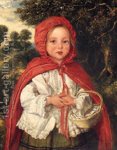 Little Red Riding Hood by (after) William Hemsley - Reproduction Oil Painting