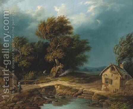The coming storm by (after) William J. Callcott - Reproduction Oil Painting