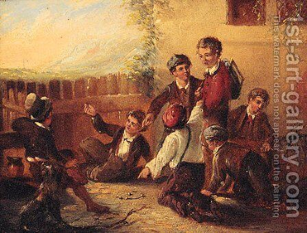 After School by (after) William Mulready - Reproduction Oil Painting