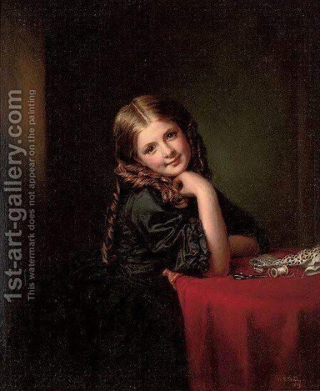 Little seamstress by (after) Frith, William Powell - Reproduction Oil Painting
