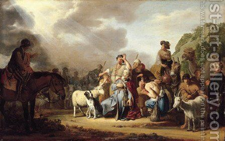 God appearing to Abraham in Schechem by Claes Cornelisz Moeyaert - Reproduction Oil Painting