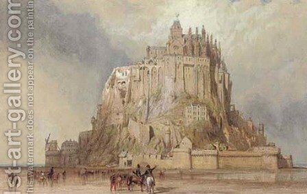 Mont St. Michel from the north west, Normandy, France by Clarkson Stanfield - Reproduction Oil Painting