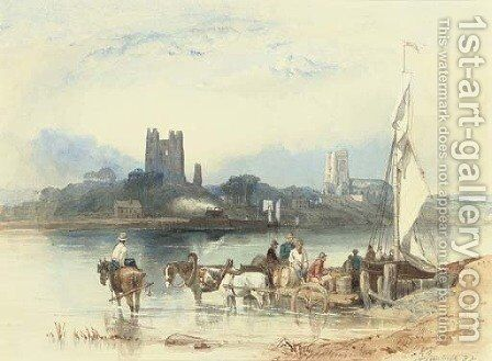 Orford Castle, Orford on the Ord, Suffolk by Clarkson Stanfield - Reproduction Oil Painting