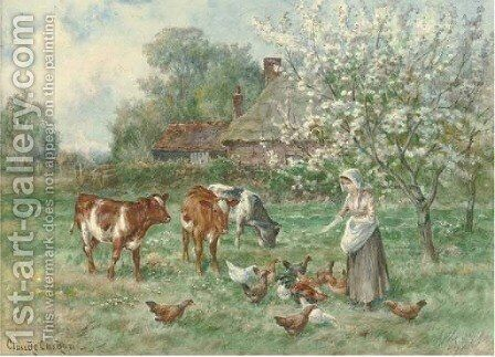 Feeding time 2 by Claude Cardon - Reproduction Oil Painting