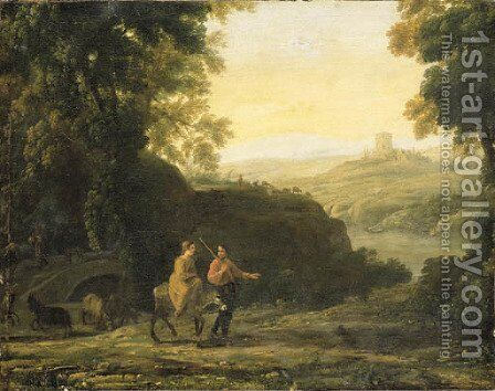 The Flight into Egypt by Claude Lorrain (Gellee) - Reproduction Oil Painting