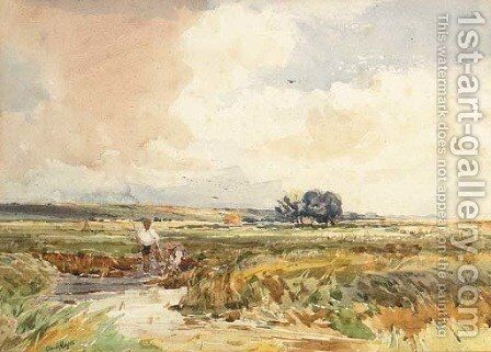 In the Meadows, Fordwick by Claude Hayes - Reproduction Oil Painting