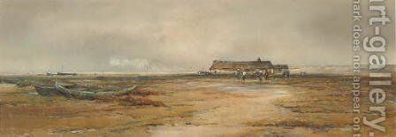 On the Norfolk coast by Claude Hayes - Reproduction Oil Painting