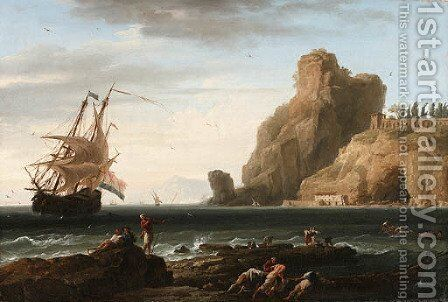 Untitled by Claude-joseph Vernet - Reproduction Oil Painting