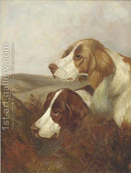 A brace of pointers by Colin Graeme Roe - Reproduction Oil Painting