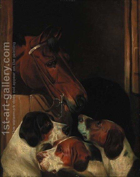 Stable mates by Colin Graeme Roe - Reproduction Oil Painting