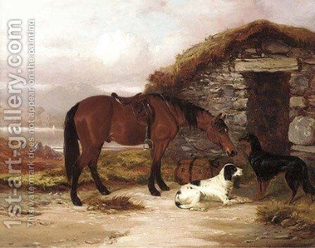 Waiting for the keeper by Colin Graeme Roe - Reproduction Oil Painting