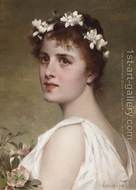 Flora by Conrad Kiesel - Reproduction Oil Painting