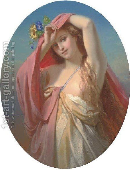 Flora by Constant Joseph Brochart - Reproduction Oil Painting
