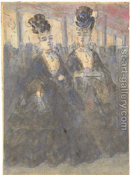 Two Lorettes at the theatre by Constantin Guys - Reproduction Oil Painting