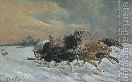 The Race by Constantin Stoiloff - Reproduction Oil Painting