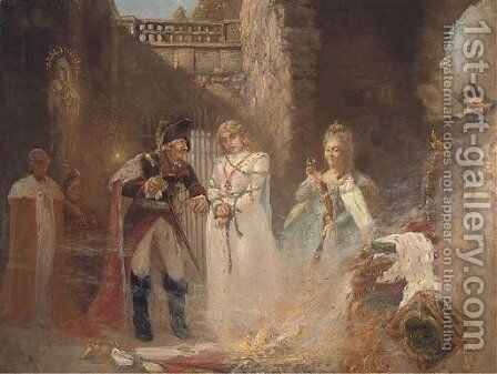 A martyr to the Revolution by Continental School - Reproduction Oil Painting
