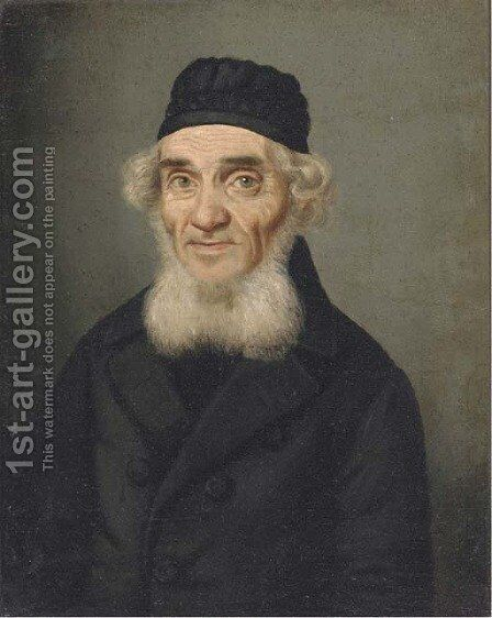 Portrait of a rabbi by Continental School - Reproduction Oil Painting