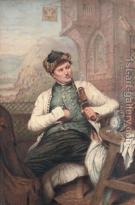 Portrait of an Eastern European gentleman by Continental School - Reproduction Oil Painting