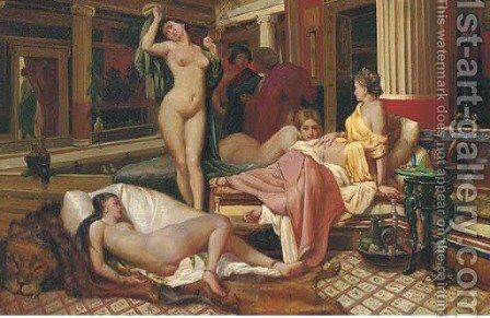 The harem by Continental School - Reproduction Oil Painting