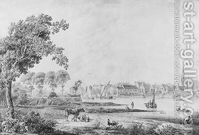 A Village on a River by Cornelis Borsteegh - Reproduction Oil Painting