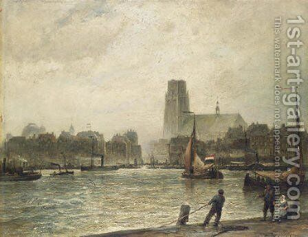 Rotterdam, seen from Fyenoord by Cornelis Christiaan Dommelshuizen - Reproduction Oil Painting