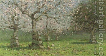 A flowering orchard by Cornelis Kuypers - Reproduction Oil Painting