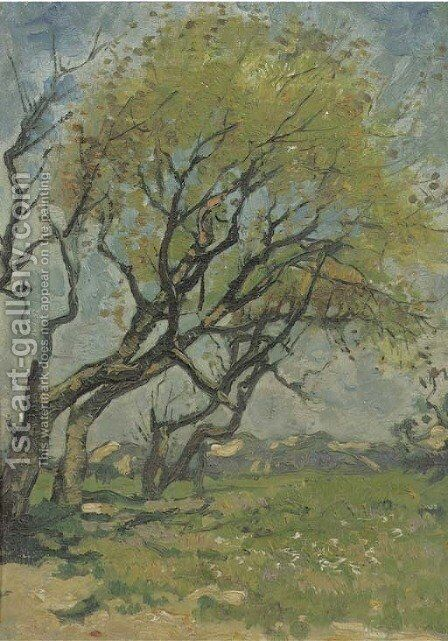 Trees in spring by Cornelis Kuypers - Reproduction Oil Painting
