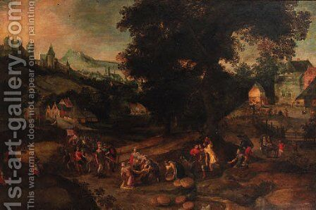 David and Abigail by Claes Molenaar (see Molenaer) - Reproduction Oil Painting