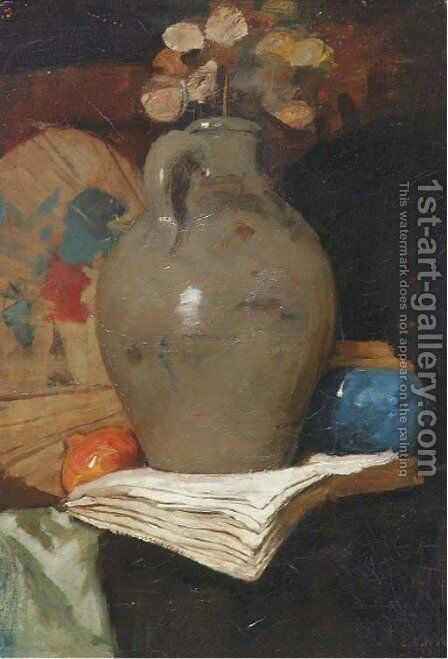 Judaspenning in a jug by Cornelis Spoor - Reproduction Oil Painting