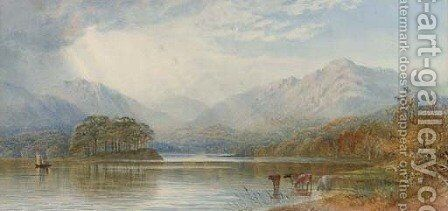 The head of Lake Windermere by Cornelius Pearson - Reproduction Oil Painting