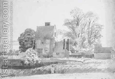 The ruins of Purton Hall, Staffordshire by Cornelius Varley - Reproduction Oil Painting