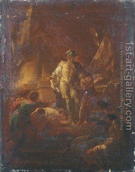 Joseph revealing his identity to his brothers by Corrado Giaquinto - Reproduction Oil Painting