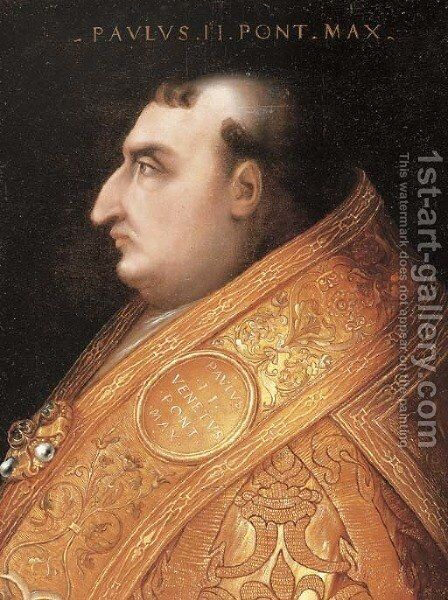 Portrait of Pope Paul II (1417-1471) by Cristofano dell' Altissimo - Reproduction Oil Painting