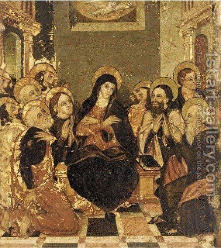 The Pentecost by Dalmatian School - Reproduction Oil Painting