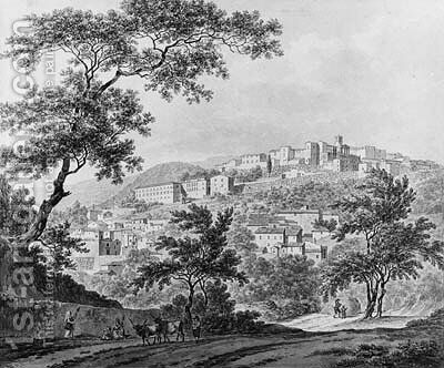 A View of Cori near Rome by Daniel Dupre - Reproduction Oil Painting