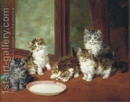 Waiting for dinner by Daniel Merlin - Reproduction Oil Painting