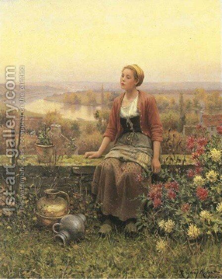 Marie by Daniel Ridgway Knight - Reproduction Oil Painting