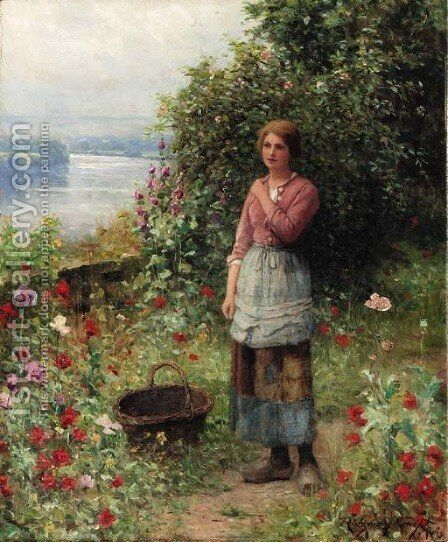 The Age of Innocence by Daniel Ridgway Knight - Reproduction Oil Painting