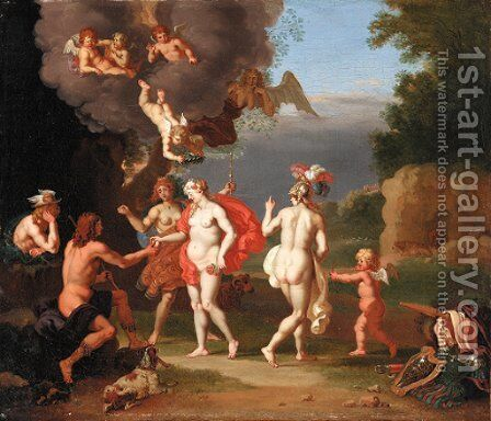 The Judgement of Paris by Daniel Vertangen - Reproduction Oil Painting