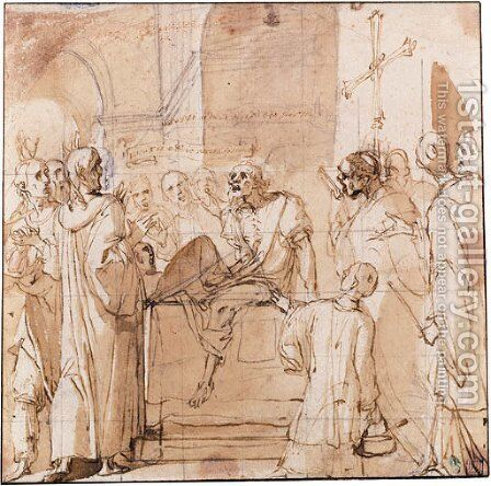 The death of Raymond Diocrs by Daniele Crespi - Reproduction Oil Painting