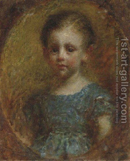 Portrait of a Young Boy by Daniele Ranzoni - Reproduction Oil Painting
