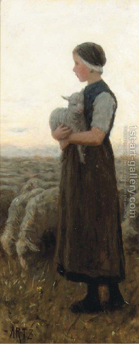 Return of the flock by David Adolf Constant Artz - Reproduction Oil Painting