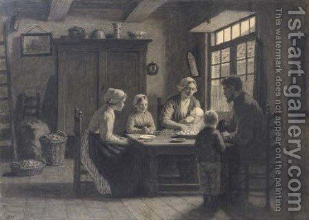Before supper by David Adolf Constant Artz - Reproduction Oil Painting