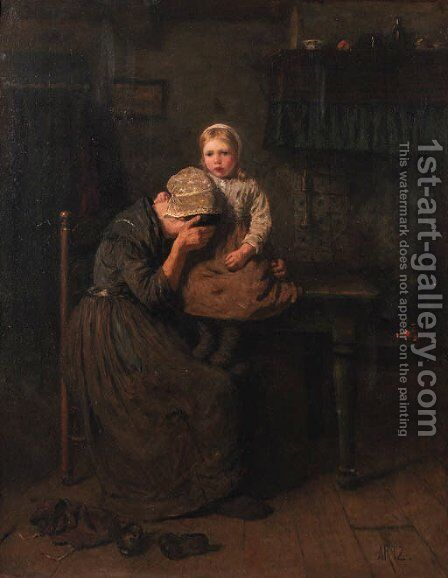 Consolation by David Adolf Constant Artz - Reproduction Oil Painting
