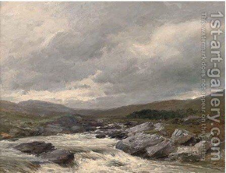 A spate on the Spean by David Bates - Reproduction Oil Painting