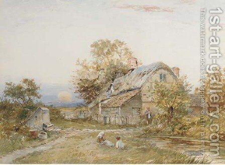 The old homestead by David Bates - Reproduction Oil Painting