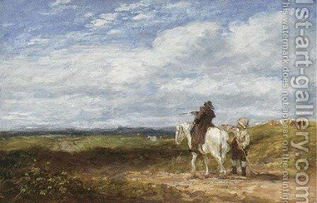 Asking The Way by David Cox - Reproduction Oil Painting
