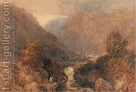 Pont-Aberglasslyn, near Beddgelert by David Cox - Reproduction Oil Painting