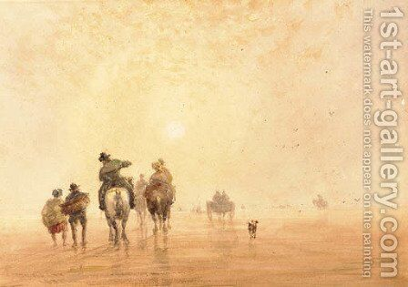 Lancaster Sands by David Cox - Reproduction Oil Painting