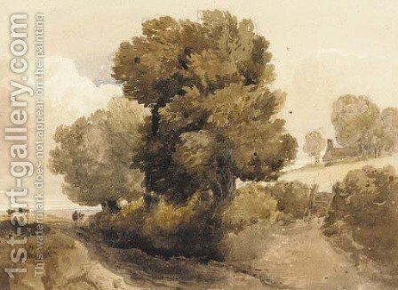 Near Dulwich by David Cox - Reproduction Oil Painting
